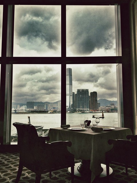 View from Caprice. Four Seasons Hotel Hong Kong