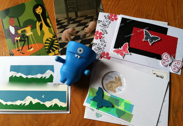 Butterflies, Mountains, Pigs at Play, and a little sewing - outgoing