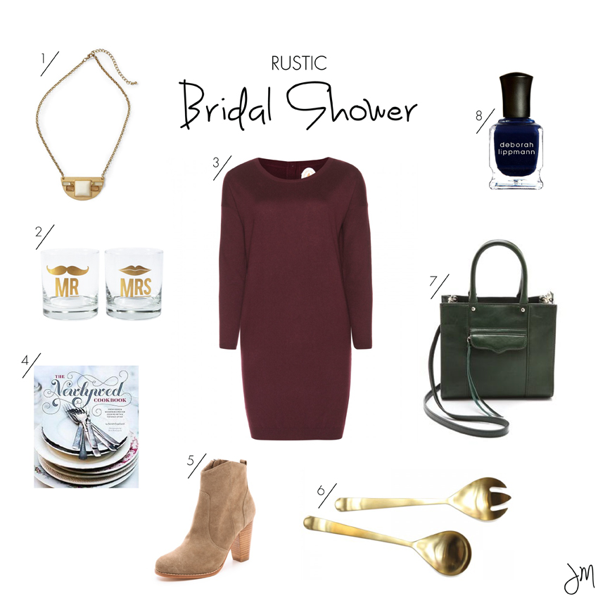 what to wear to a rustic bridal shower