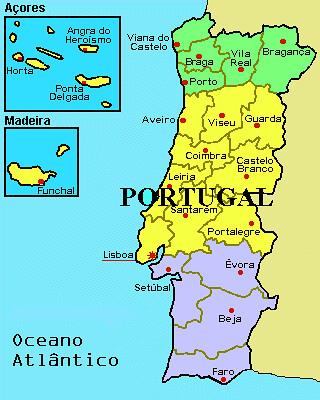 Portugal - mapa