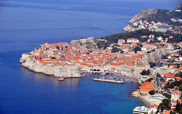 The old, walled city of Dubrovnik, Croatia  (A UNESCO World Heritage City)