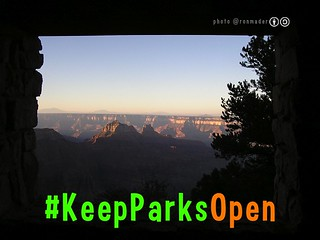 Free #KeepParksOpen Poster (with attribution-sharealike license)
