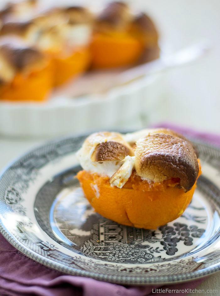Mom's Sweet Potato Stuffed Oranges via LittleFerraroKitchen.com