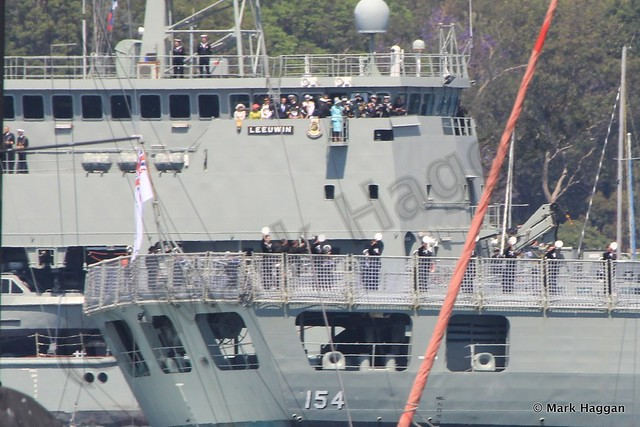 Prince Harry and other guests at the International Fleet Review, Sydney, October 2013