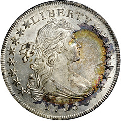 1795 $1 Draped Bust, Off Center obverse