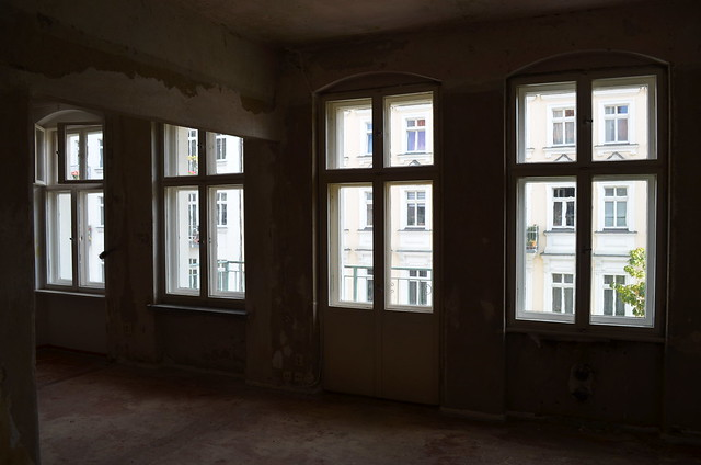 Berlin apartment street-facing windows