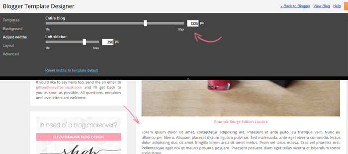 aligning resizing formatting images for blogger posts 7