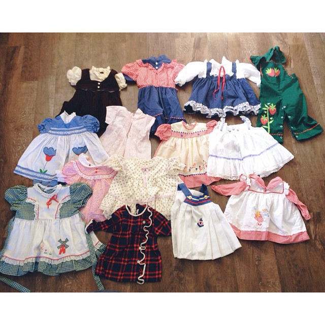 Scored on vintage baby clothes today. Now I have to decide if I want to be lazy and sell it as a lot or if I want to make way more selling individually. #yardsalefinds #vintage