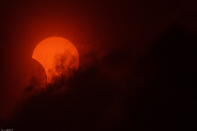 Hybrid Solar Eclipse, in Alexandria - Egypt. (November 3, 2013)