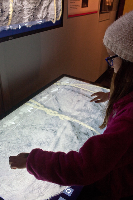 Interactive station at Chicago World's Fair Exhibit, Field Museum