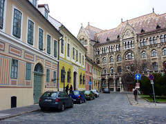 Hungary, Budapest, Buda, Obudavar - older and 'newer' by Julie70