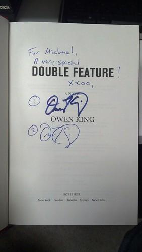 Owen King autographs