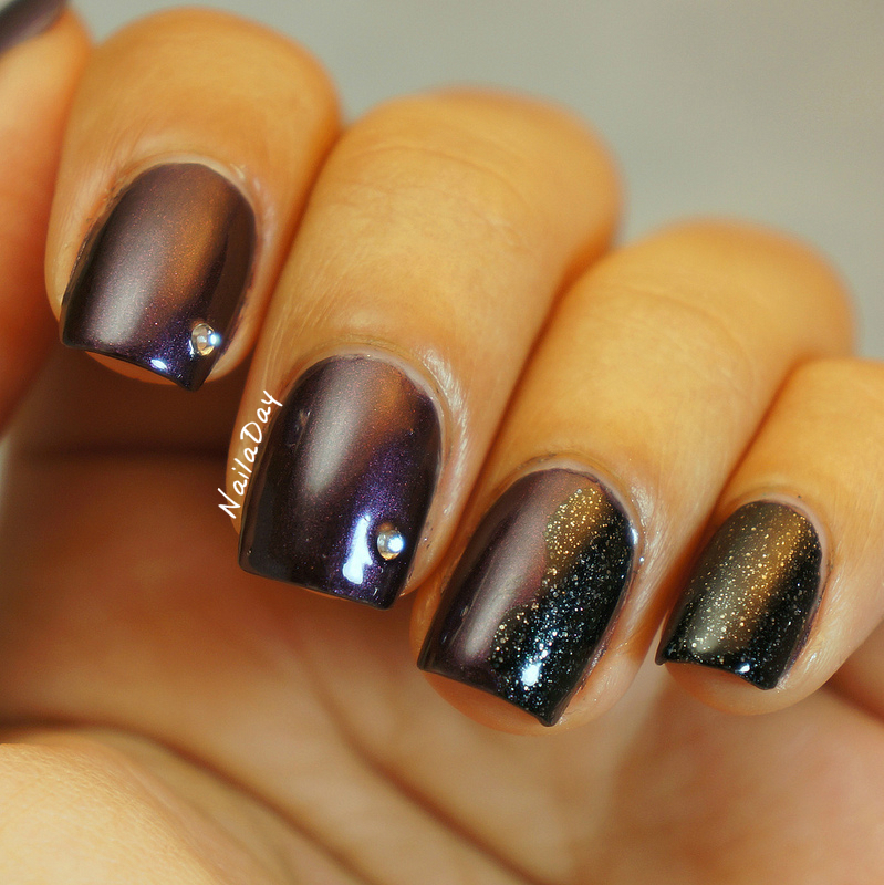 NailaDay: Petities CQ Solar skittlette with rhinestones