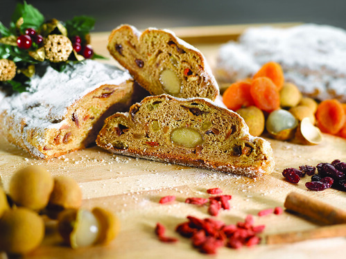 St. Regis Singapore's Christmas Stollen with Dried Tropical Fruits