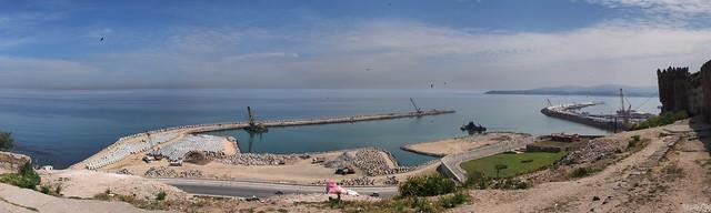 興建中的港口