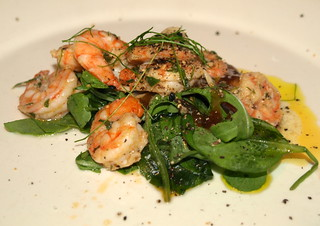 King Prawn in Garlic Butter, Rocket, Garlic Cress