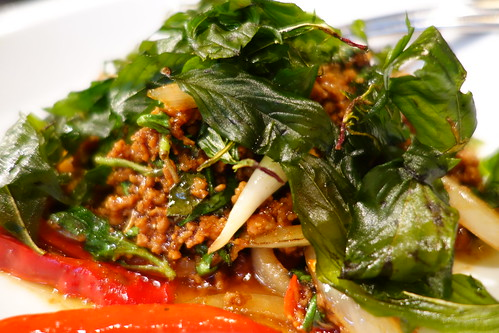 Kha Singapore's Phad Bai Ka Pow - Stir fried minced pork, chili, garlic, onions and holy basil