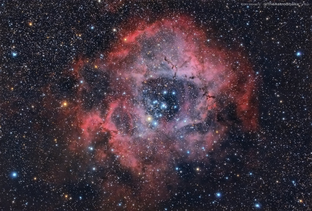 Rosette nebula, final post-processed image