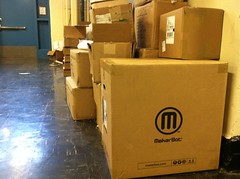 Our MakerBot is here!!