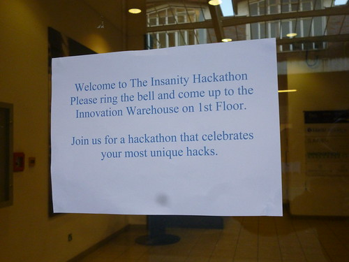 Insanity Hackathon Welcome