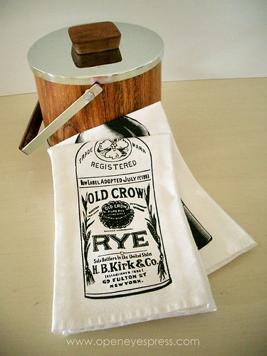 Rye Whiskey Napkin by Open Eyes Press, Mod Bar Accessory