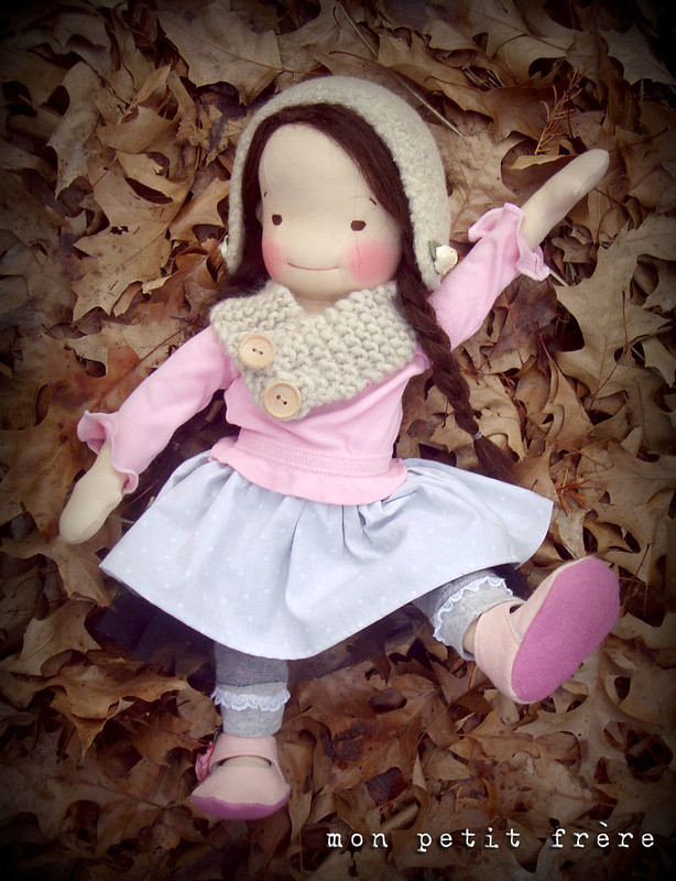 "Emiko- a 17"" doll with extra clothing"