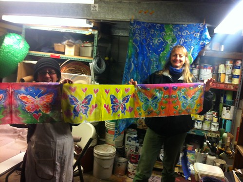 Migration is Beautiful, Butterfly flags for Community            Art Build