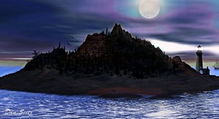 Lighthouse Island, Artwork by DMS -12-14-13 - #Flickr12Days