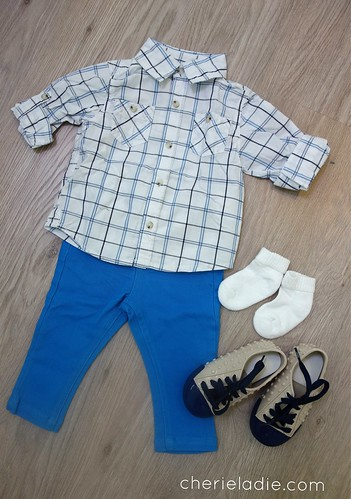 FOX Checked Shirt paired with Blue Skinny Jeans.
