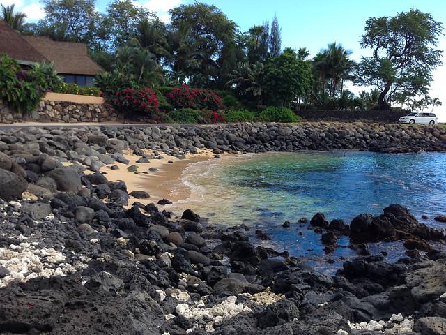 Empty beach on Maui