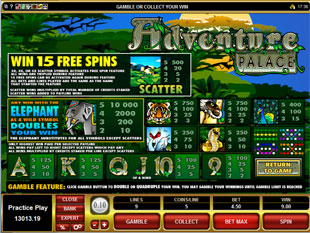 Adventure Palace Slots Payout