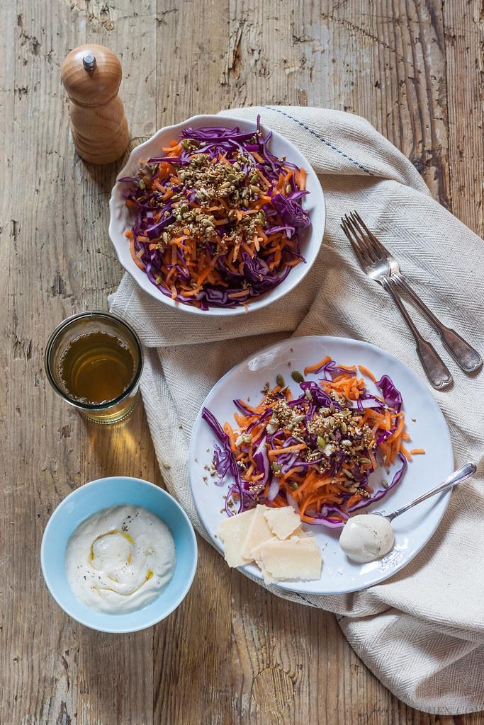 Cabbage winter salad