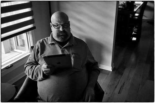 Michael And His iPad, January 05, 2013