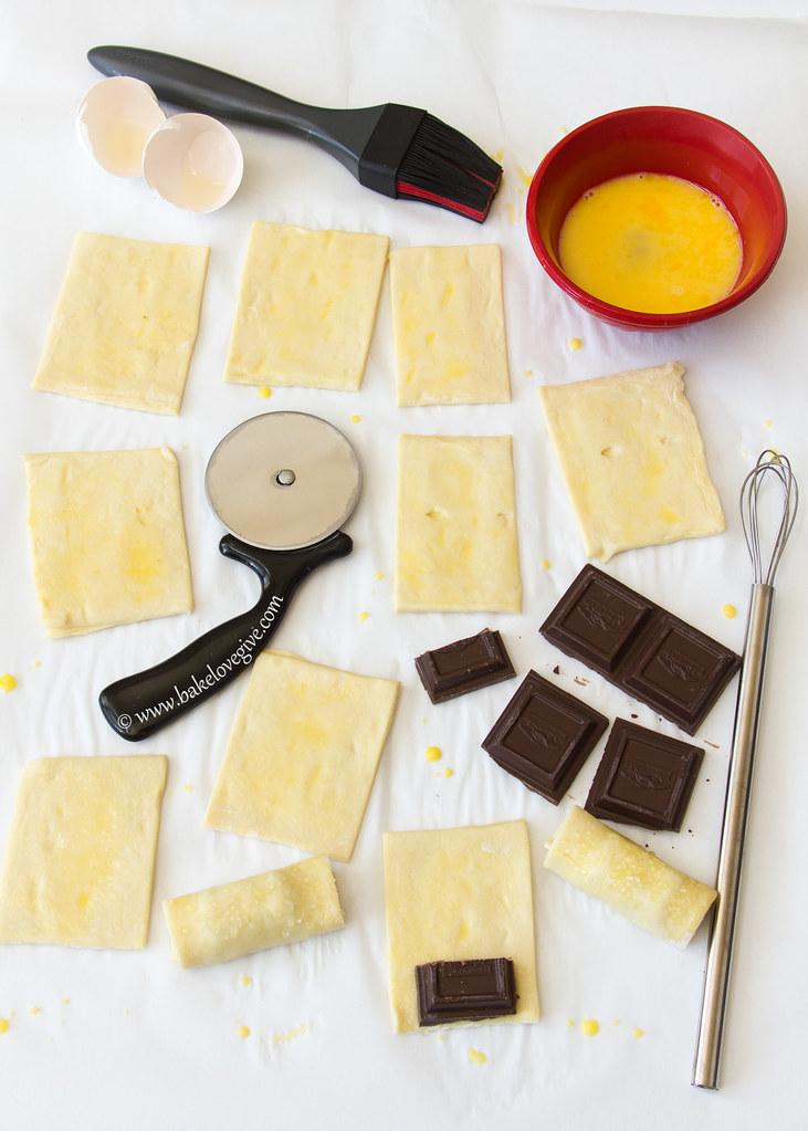 petits pains au chocolat chocolate croissants