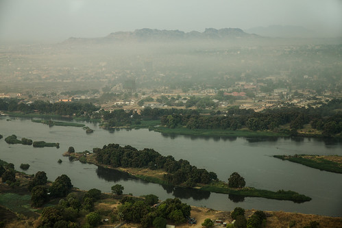 southsudan juba aerial nile river mist