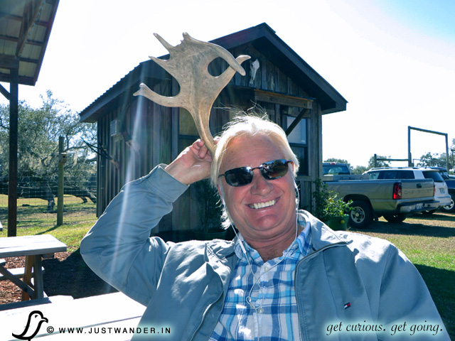 PIC: Bill holding a Horns / Antlers at Giraffe Ranch