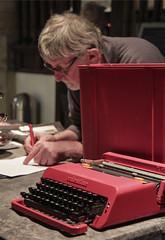 Valentine Typewriter and Peter
