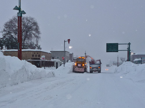 Snow clearing Niseko village