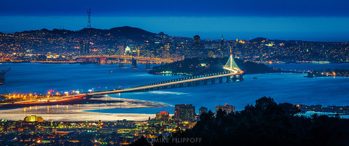 sanfrancisco new longexposure bridge white bay zoom sanfranciscobay shining tollplaza sutratower coottower ssanfranciscobaybridge