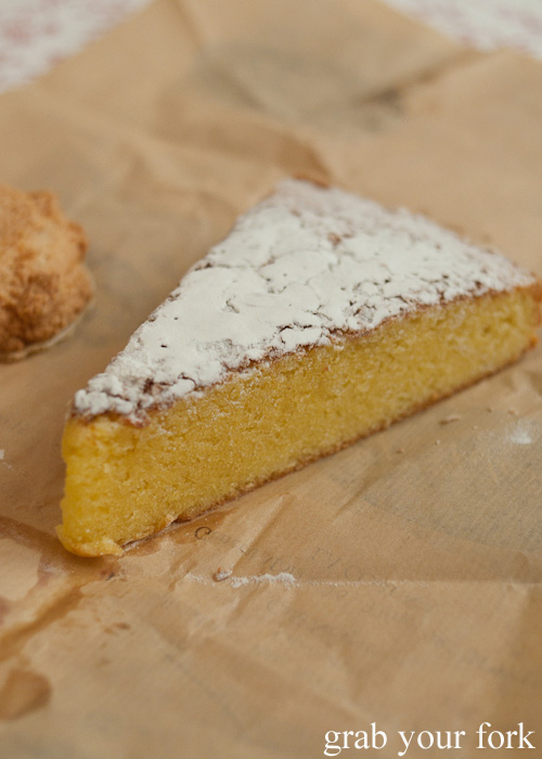 Tarta de Santiago or cake of St James in A Coruna, Galicia, Spain