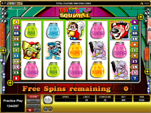 Nutty Squirrel Free Spins Win