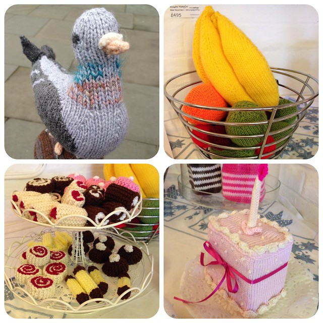 Everything at Unravel 2014 is knitted - including the birds and food