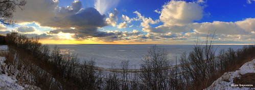 park winter sunset sky panorama lake snow seascape color ice beach nature clouds landscape michigan stjoseph lakemichigan greatlakes lakeshore iphone