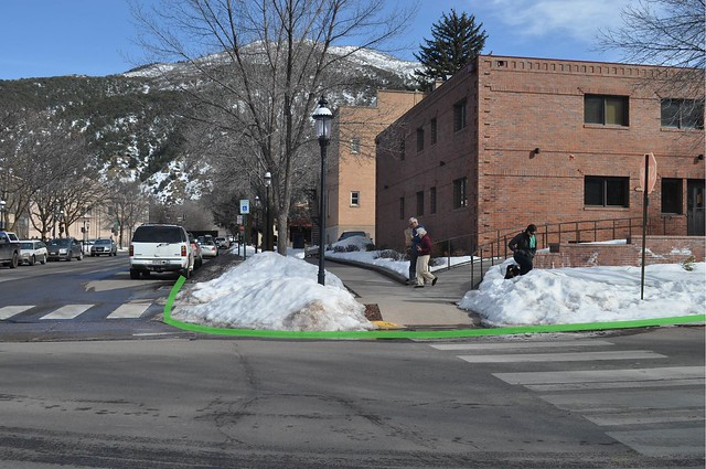 Glenwood Springs downtown intersection snow study