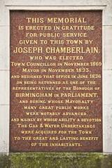 Photo of Joseph Chamberlain brown plaque