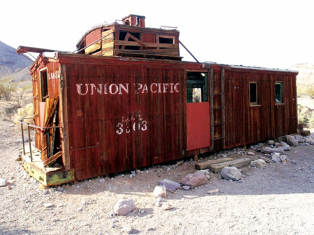 Rhyolite Union Pacific Caboose