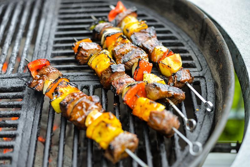 Ginger-Teriyaki Beef Kebabs