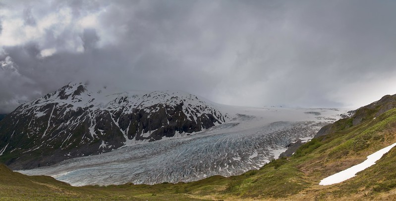Exit Glacier Panorama - Kenai Fjords National Park