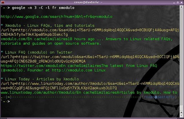 How to access popular search engines from the command line on Linux