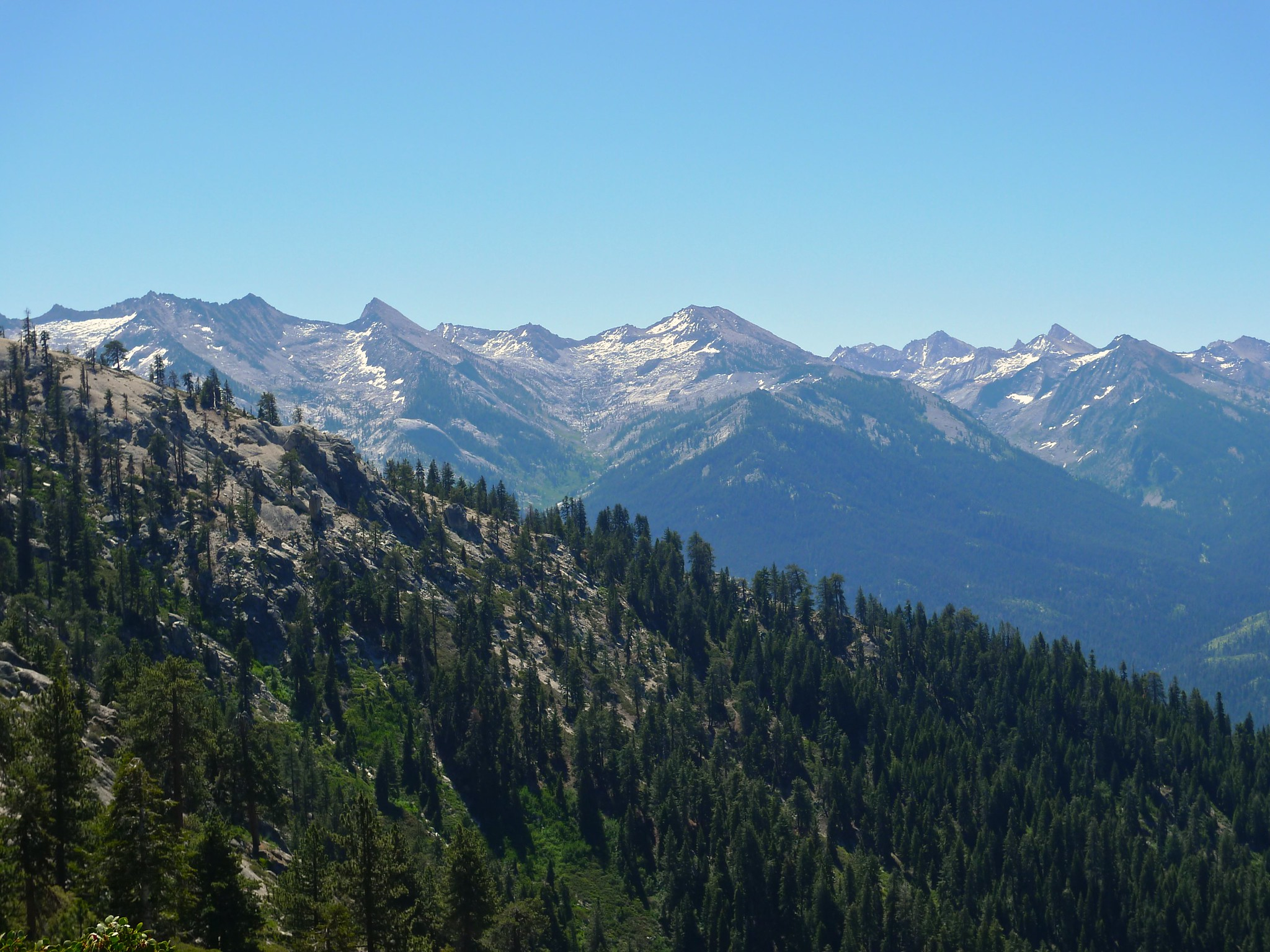 First view of the Great Western Divide from Panther Gap
